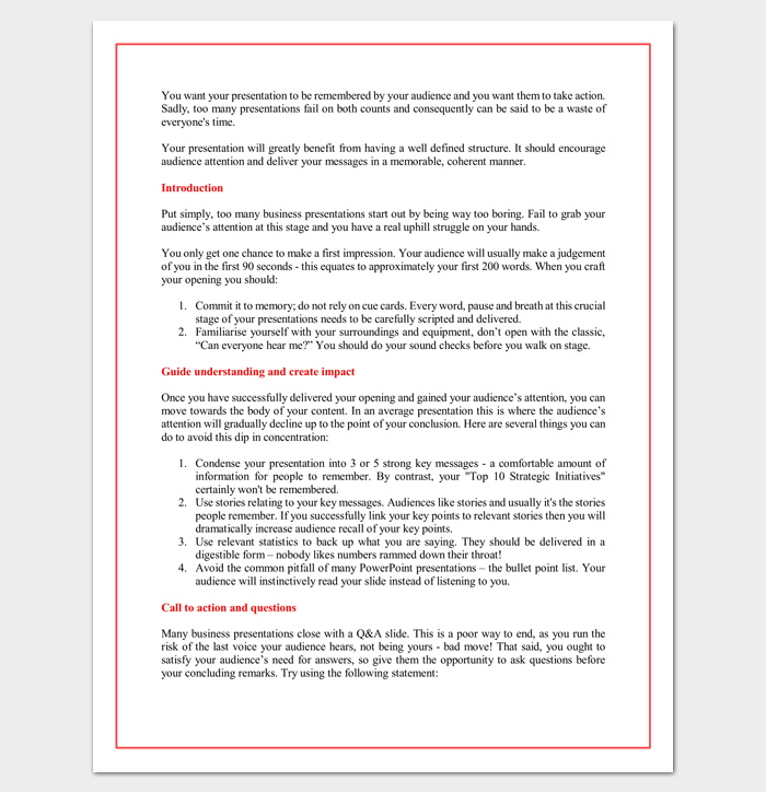 Presentation outline template 19 formats for ppt word pdf sales presentation outline template cheaphphosting Image collections