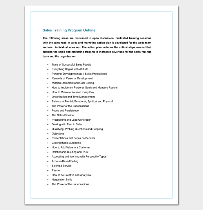 Training Program Outline Template 19 For Word Pdf Format Dotxes