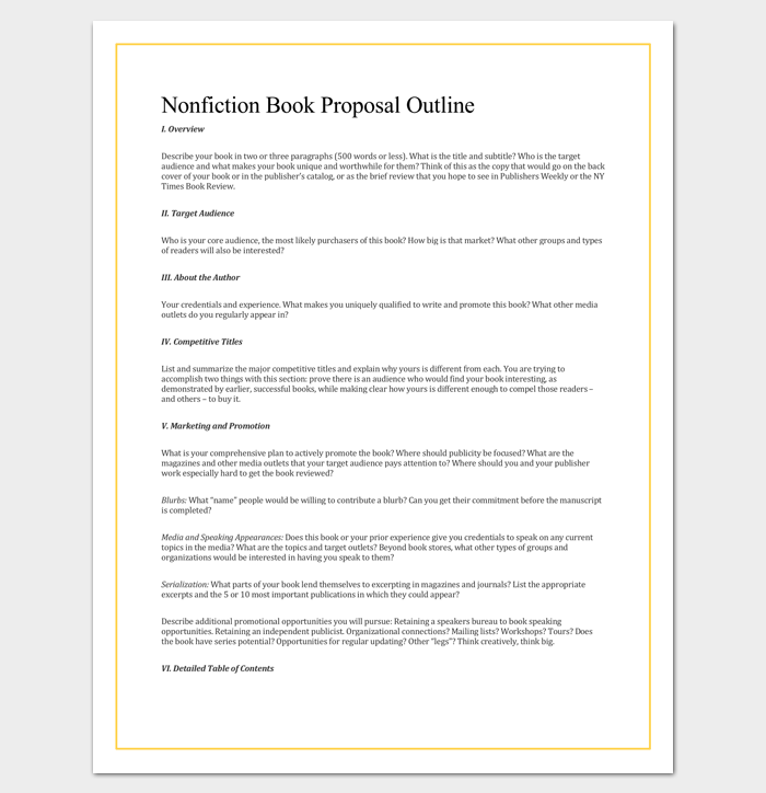 non fiction book outline template 5 for word pdf format dotxes. Black Bedroom Furniture Sets. Home Design Ideas