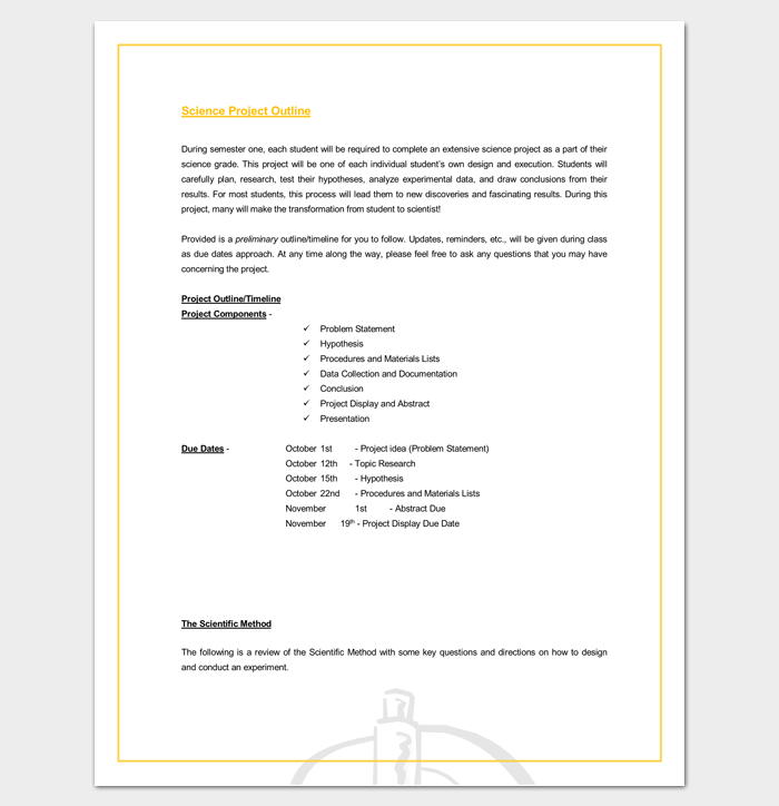 project outline template microsoft word