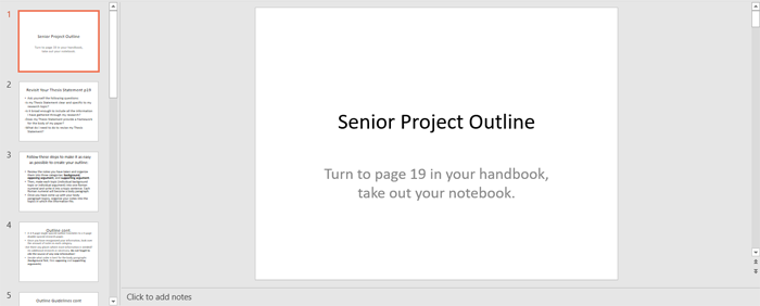 project notebook template