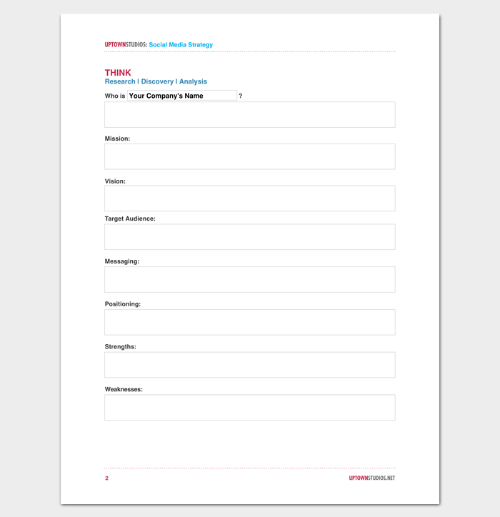 Social Media Strategy Outline Template Samples For PDF Word - Social media strategy template pdf