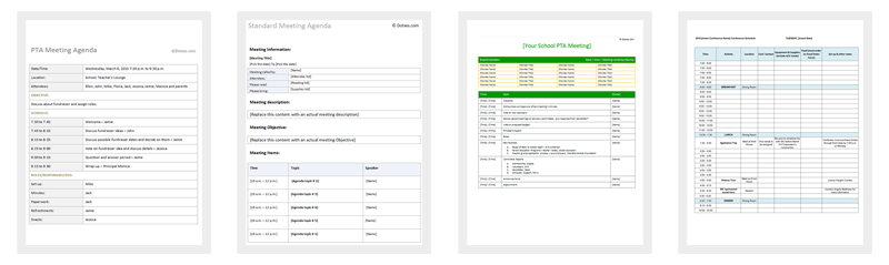 Agenda Outline Templates