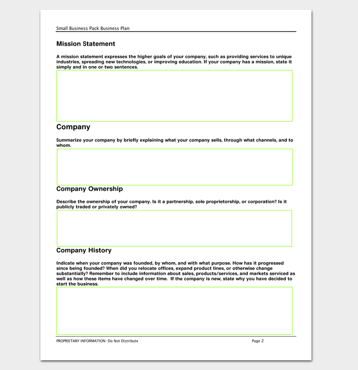 Business Outline Template 20 Free Samples Formats