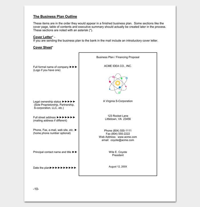 sample business plan outline pdf