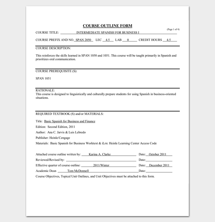 Course outline template 10 samples for word pdf format course outline template word doc maxwellsz
