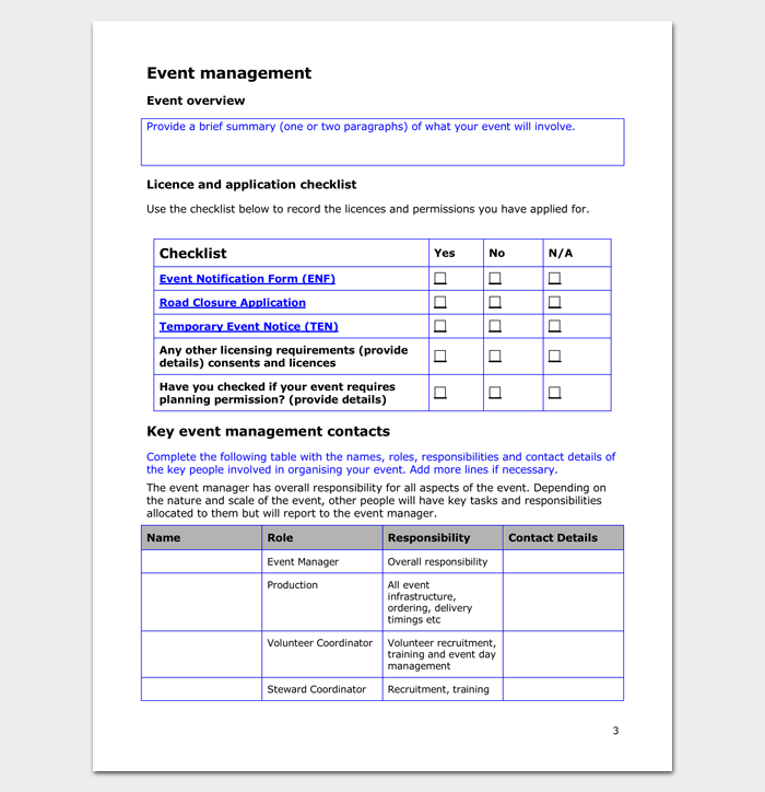 Event Management Plan Template (Plus Guide)