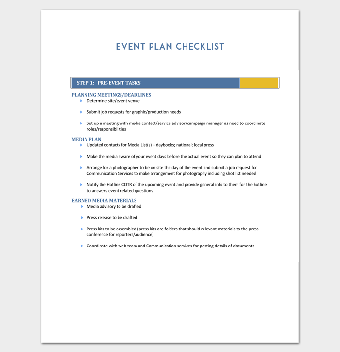 Event Outline Template - 9+ Samples & Examples for PDF Format