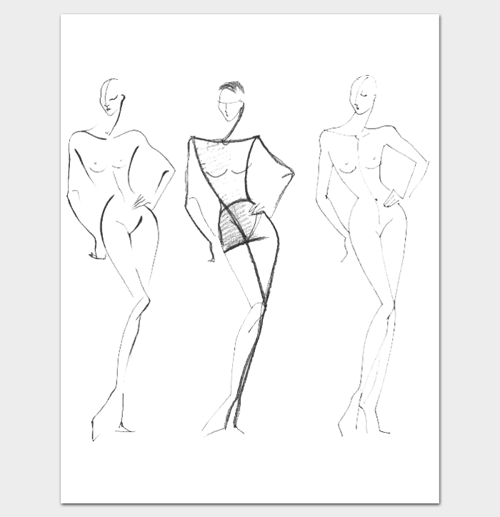 Female Body Outline Drawing