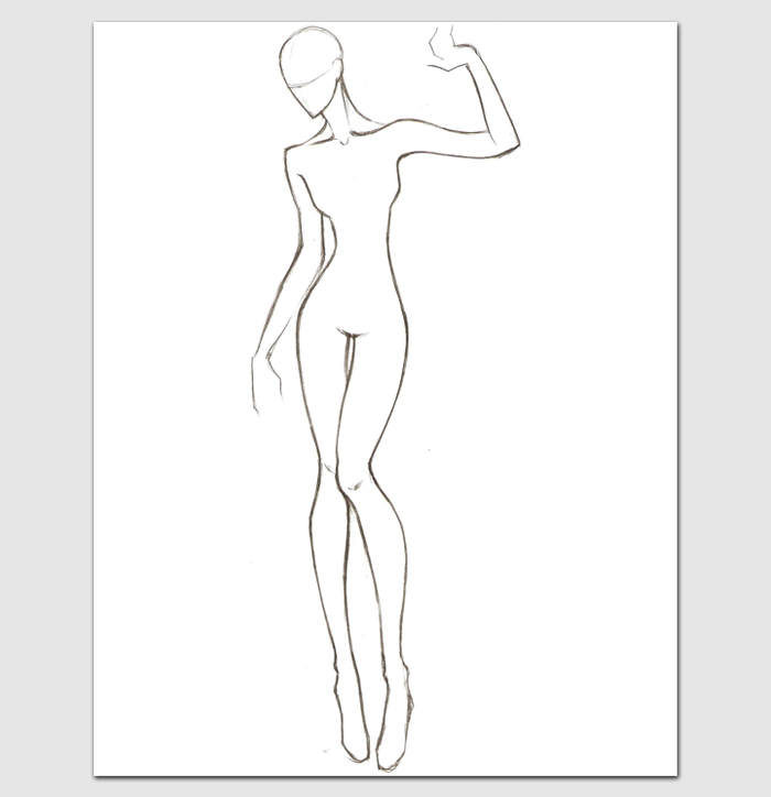Female Body Template for Fashion Design