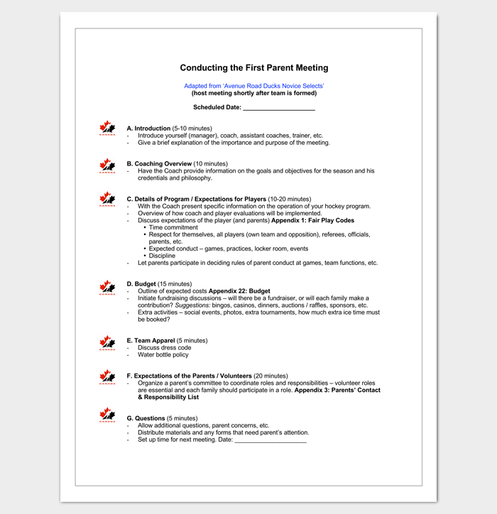 meeting outline