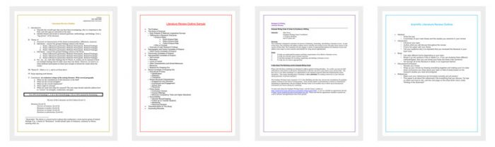 literature review outline template