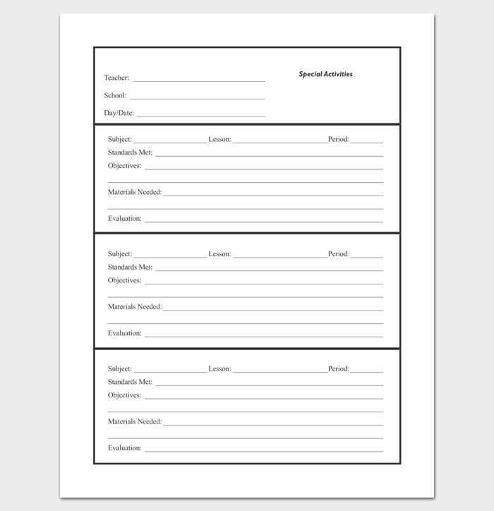 Lesson Plan Outline Template - 23+ Examples, Formats and Samples