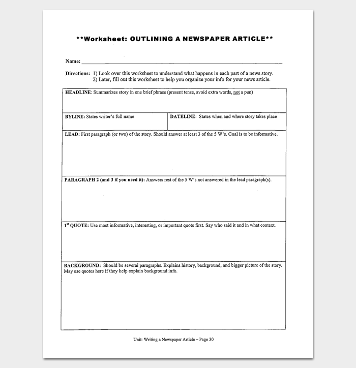 History worksheet template kidz activities for Story outline template for kids