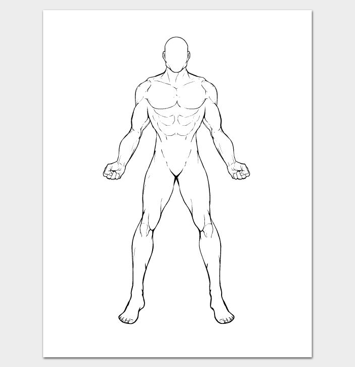 human body drawing template body outline template 23 free sample