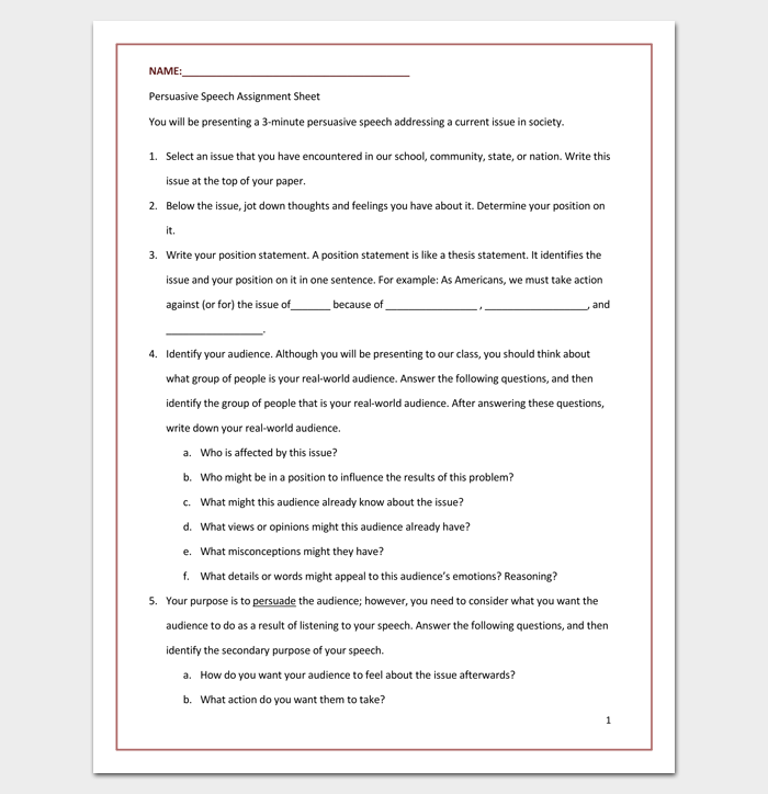 outline of a informative speech on home school Students who have to write an informative essay for the first time should go  through this article the outline example helps to understand the process better   home blog how to write an informative essay  of female leaders in male  jobs what preventive measures should school board take to prevent bullying is  it an.