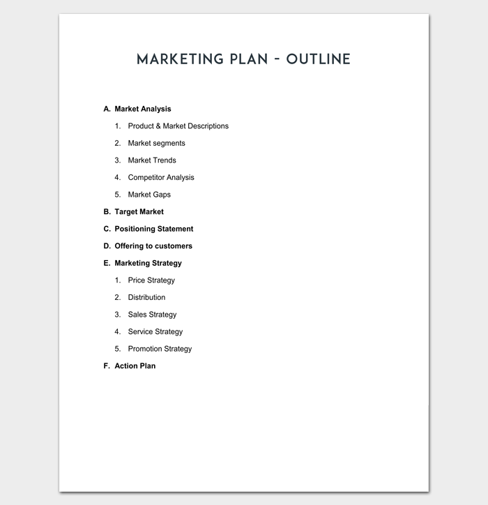 how to make a simple business plan outline