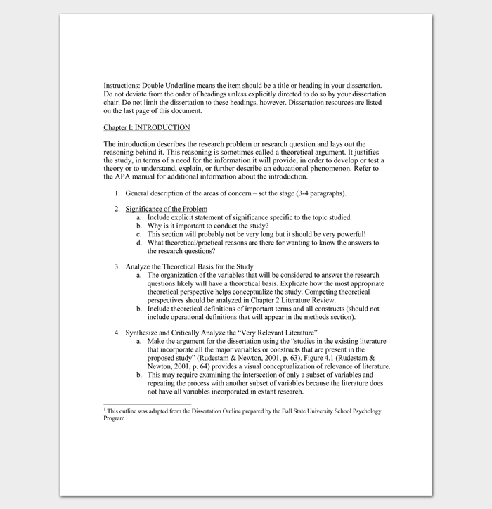 Dissertation qualitative outline