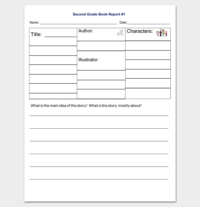 book report formats Students can use this template as a means of communicating about a book that they have read.