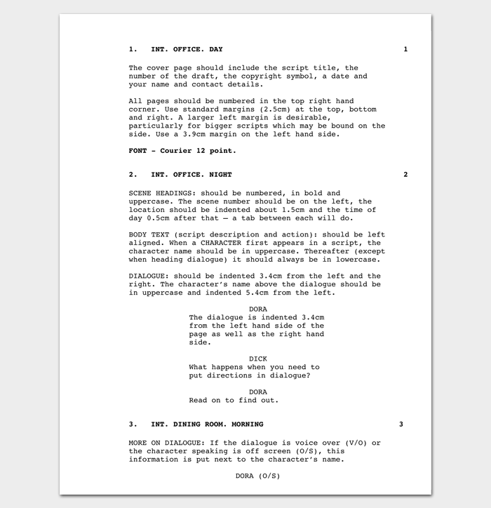 Script outline template 12 examples for word pdf format for Free movie script template