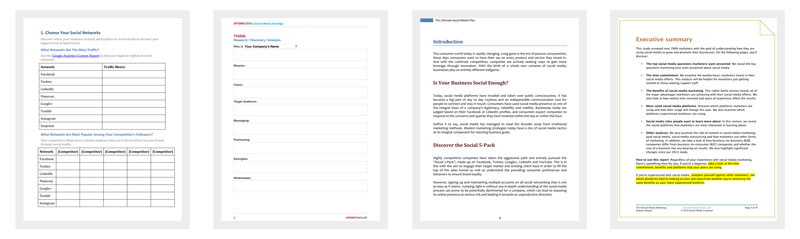 Social Media Strategy Outline Template