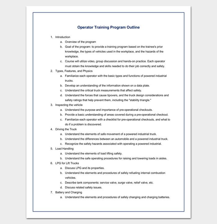 program outline template 14 sample example format. Black Bedroom Furniture Sets. Home Design Ideas