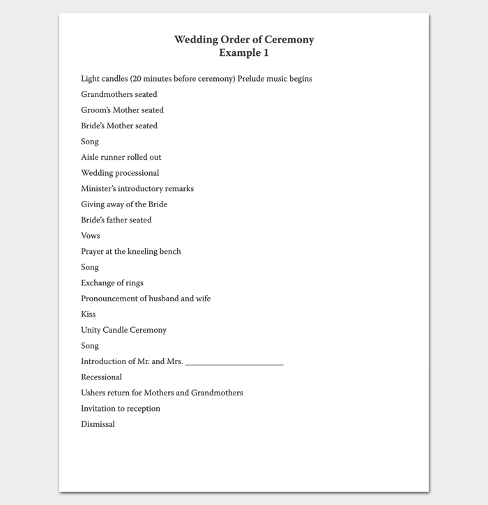 Event Program Outline 13 Printable Samples Examples