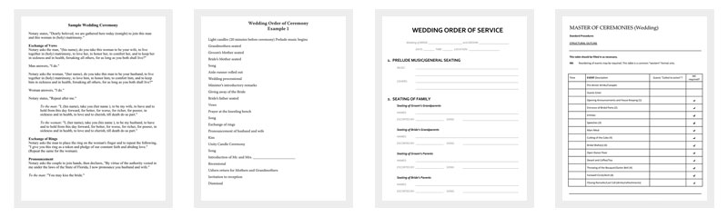 Wedding Outline Template