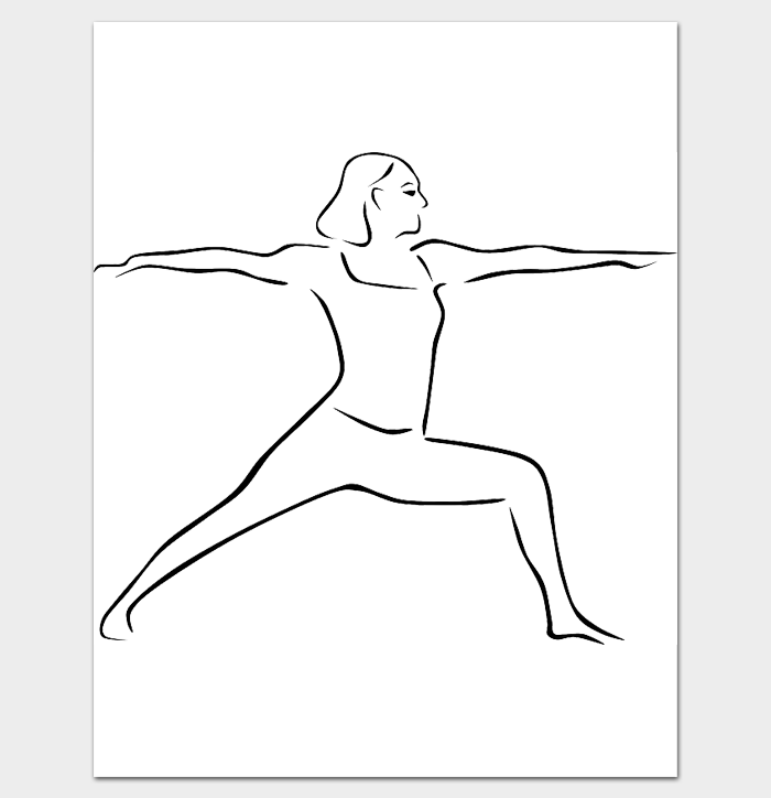 Yoga Female Body Outline Template