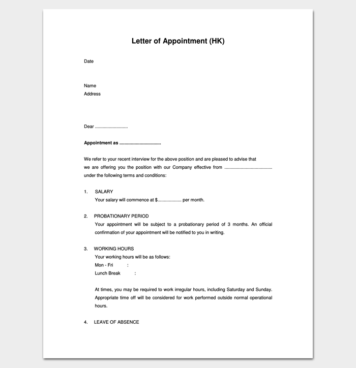 Agent Appointment Letter Format 1