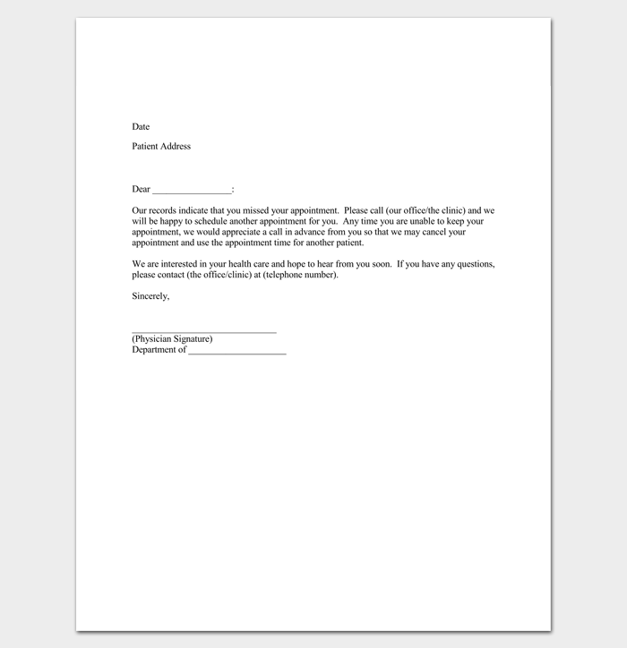Appointment Cancellation Letter PDF Sample 1