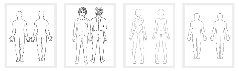 Body Outline Front and Back