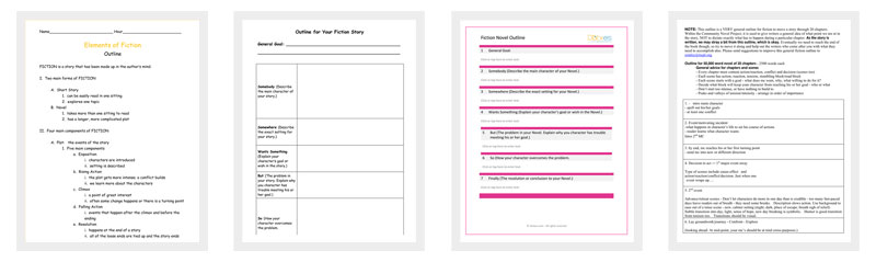 fiction novel outline template