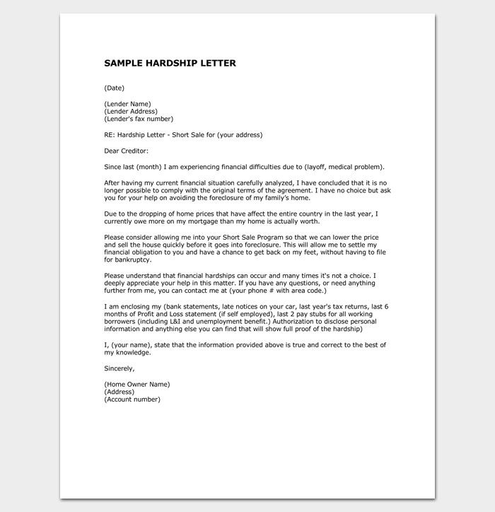 Hardship letter template 10 for word pdf format hardship letter to creditors 1 thecheapjerseys Gallery