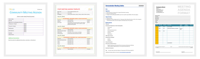 Meeting Outline Template