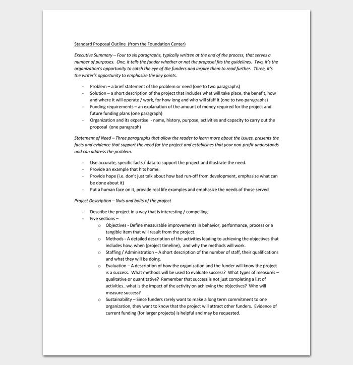 Proposal Outline PDF Format