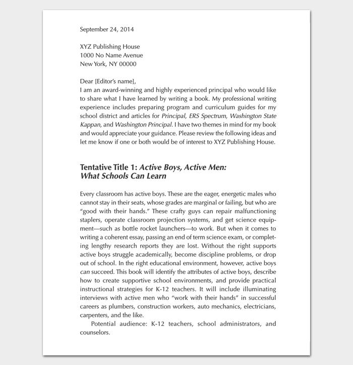 Query Letter PDF Format 1