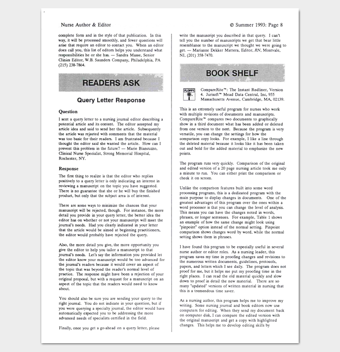 Query letter template 7 formats samples examples query letters and responses 1 spiritdancerdesigns Image collections