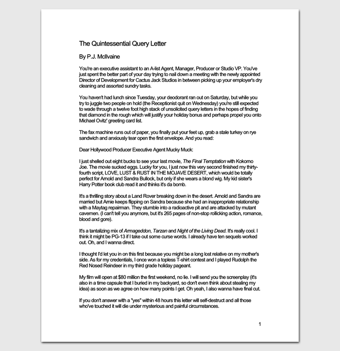 How to write a reply to a query letter gallery letter format query letter template 7 formats samples examples quintessential query letter 1 expocarfo gallery spiritdancerdesigns Choice Image