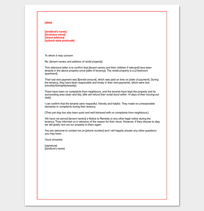 Letter of recommendation for tenant from friend kubreforic letter expocarfo Choice Image
