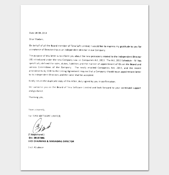 Company appointment letter 9 docs for word and pdf format software company appointment letter sample 1 altavistaventures Gallery
