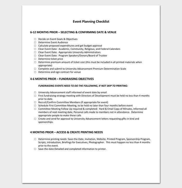 6 12 Months Pre Event Planning Checklist 1