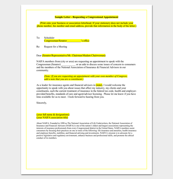 Appointment Request Letter Word Doc