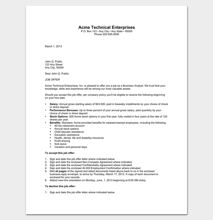 Business appointment letter 20 samples examples formats business analyst appointment letter 1 spiritdancerdesigns Images