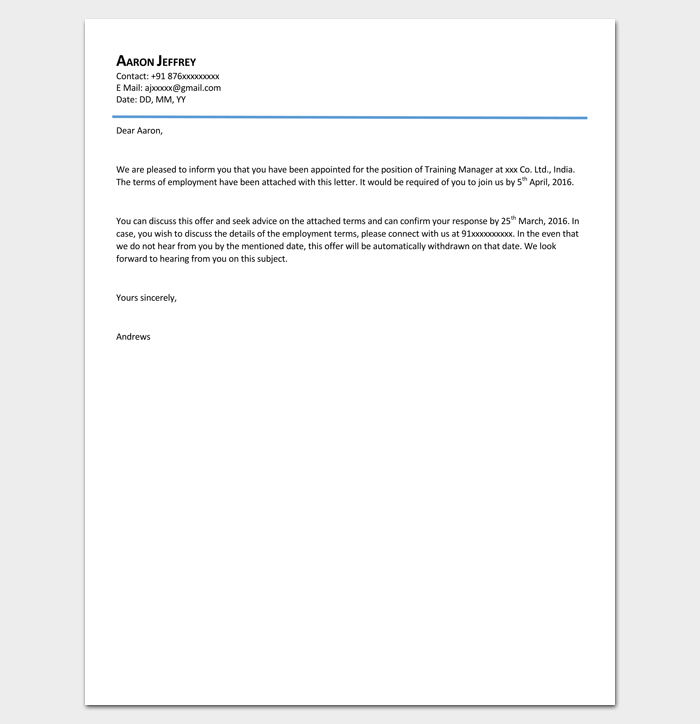 Business Appointment PDF Format 1