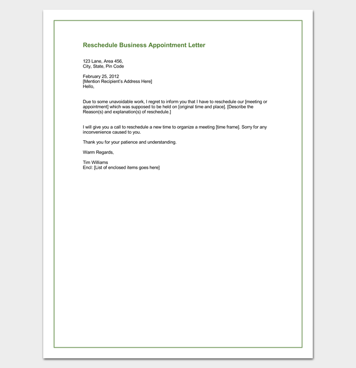Business Appointment Letter 20 Samples Examples Amp Formats