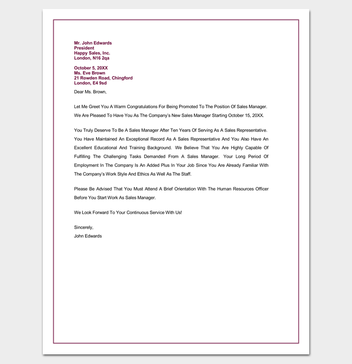 Congratulation letter template 18 samples for word pdf format congratulations letter on promotion altavistaventures Gallery