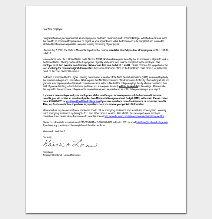 Congratulatory Letter on New Appointment 1