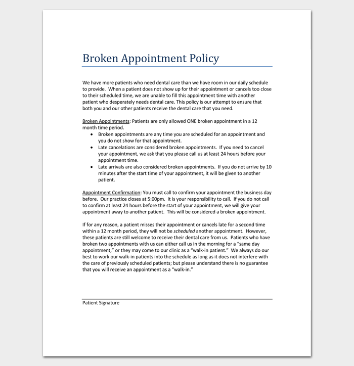 broken appointment letter template 5 samples for word pdf format. Black Bedroom Furniture Sets. Home Design Ideas