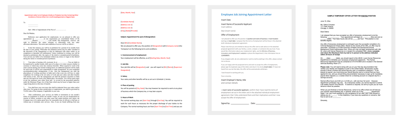 Employee Appointment Letters